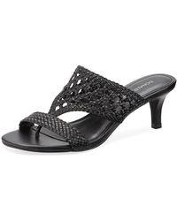 Donald J Pliner - Kikki Woven Leather Slide Sandals - Lyst
