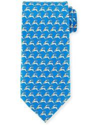 Ferragamo - Men's Reindeer Silk Tie - Lyst