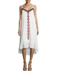 Cynthia Vincent - Western Embroidered Cotton Voile Dress - Lyst