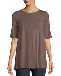 Eileen Fisher - Short-sleeve Jersey Tunic - Lyst