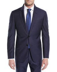 Emporio Armani - Alternating Stripe Two-piece Wool Suit - Lyst