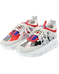 Versace - Colorblock Chain Reaction Sneakers - Lyst