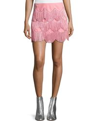Marc Jacobs - Mini Skirt With Fringe - Lyst