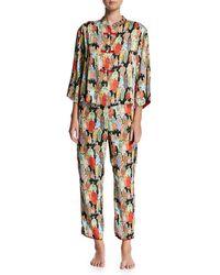 Natori - Two-piece Dynasty Printed Pajamas - Lyst