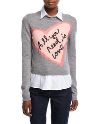 Alice + Olivia | Nikia All You Need Love Pullover | Lyst