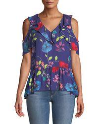 Parker - Dedra Floral Cold-shoulder Top - Lyst