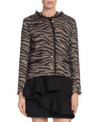 Étoile Isabel Marant - Lycia Snap-front Zebra-print Wool Jacket - Lyst