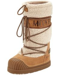 Moncler - Venus Shearling Fur Moon Boot - Lyst