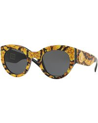 Versace - Acetate Monochromatic Cat-eye Sunglasses - Lyst