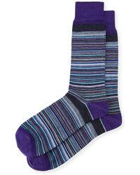 Neiman Marcus - Wool-blend Striped Socks - Lyst