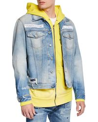 b53b177c DIESEL Juvery Jacket in Blue for Men - Lyst