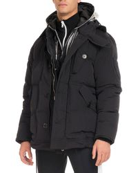 Givenchy - Down Coat With Logo Hood - Lyst