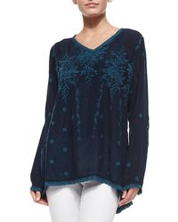Johnny Was - Vine Embroidered Georgette Tunic - Lyst