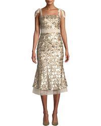 Elliatt - Angelina Sequin Sleeveless Midi Cocktail Dress - Lyst