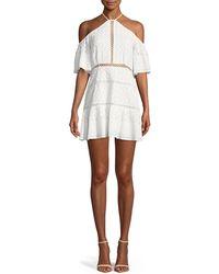 Red Carter - Tomey Cold-shoulder Embroidered Dress - Lyst