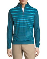 Peter Millar - Perth Engineered Striped Quarter-zip Sweater - Lyst