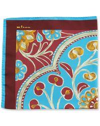 Kiton - Large Floral Silk Pocket Square - Lyst