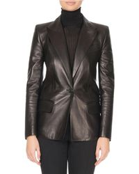 Givenchy - Single-breasted Soft Leather Blazer - Lyst