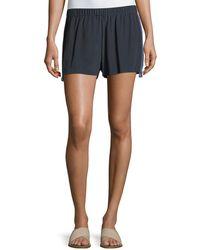 Figue - Cassia Flat-front Tux-detail Crepe De Chine Shorts - Lyst