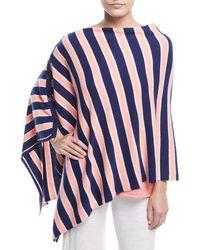 Minnie Rose - Striped Cashmere Poncho - Lyst