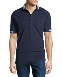 Kiton - Men's Piqué Knit Cotton Polo Shirt - Lyst