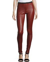 Neiman Marcus - Stretch-leather Leggings - Lyst