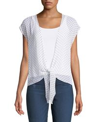 Bailey 44 - Happy Together Dot-print Tie-front Top - Lyst