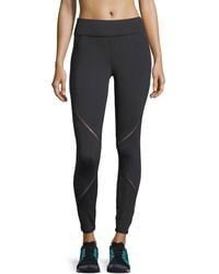 Michi | Axial Full-length Performance Leggings With Ladder Trim | Lyst