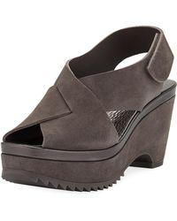 Pedro Garcia - Fayre Platform Wedge Sandals - Lyst