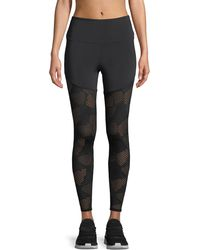 Onzie - Half/half 2.0 Patterned Mesh Performance Leggings - Lyst