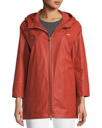 Herno | Waxed Cotton A-line Raincoat W/ Hood | Lyst