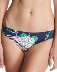 Trina Turk - Midnight Paradise Shirred-side Swim Bikini Bottom - Lyst