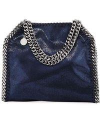 63f467548f5e Lyst - Stella McCartney Mini Falabella Metallic Chain Tote Bag in Pink