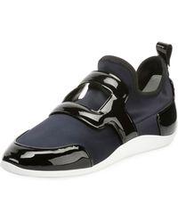 Roger Vivier - Sporty Viv Leather Buckle Sneakers - Lyst