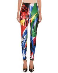Versace - Clash-print Fitted Lycra® Leggings - Lyst