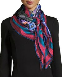 Jane Carr - The Decoupage Silk Twill Square Scarf - Lyst