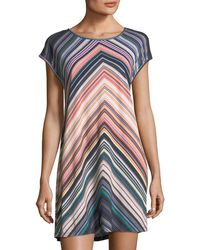 Jets by Jessika Allen - Chevron-striped Scoop-neck Coverup Dress - Lyst