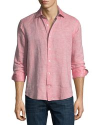 Culturata   Fray Edge Linen-blend Sport Shirt   Lyst