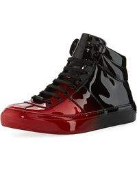 Jimmy Choo | Belgravia Men's Dégradé Patent Leather High-top Sneaker | Lyst