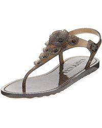 6f6a9747fe2 COACH - Tea Rose Jelly Flat Sandals - Lyst