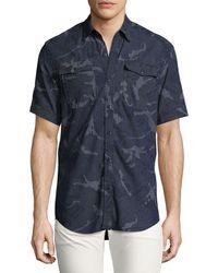 G-Star RAW - Landoh Camouflage Chambray Short-sleeve Shirt - Lyst