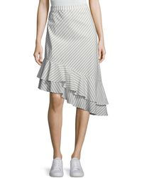 Joie - Yenene Striped Asymmetric-hem Skirt - Lyst