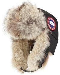Canada Goose Fur Aviator Hat - Black