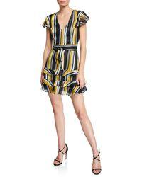 Parker - Elijah Striped Mini Dress - Lyst
