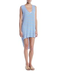 Mikoh Swimwear - Okinawa Striped Draped Coverup Dress - Lyst