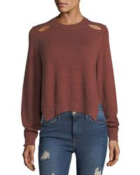 Étoile Isabel Marant | Kelia Crewneck Distressed Cotton-wool Sweater | Lyst