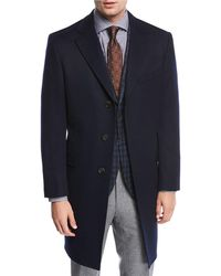 Neiman Marcus   Single-breasted Cashmere Top Coat   Lyst