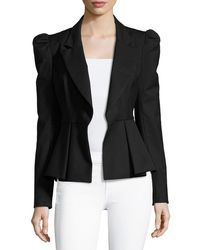 MILLY - Victoria Italian Stretch-wool Gabardine Blazer - Lyst