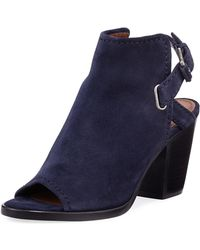 Frye - Dani Shield Slingback Booties Navy - Lyst
