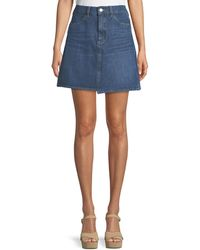 M.i.h Jeans - Cult Step-hem Denim Short Skirt - Lyst